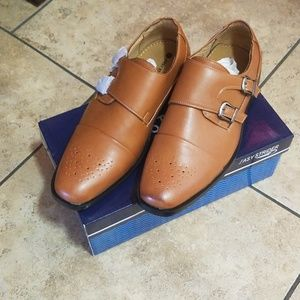 Brand New Boys Tan Dress Shoes